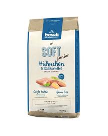 BOSCH Soft Junior Hrana uscata cu pui si cartofi dulci pentru cainii junior12,5 kg
