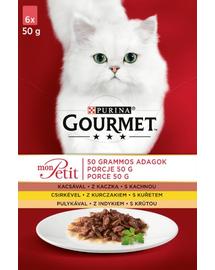 GOURMET Mon Petit Mix carne de pasăre (6x50 g)