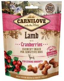 CARNILOVE Crunchy Snacks recompense crocante pentru caini, cu miel si afine 200 g