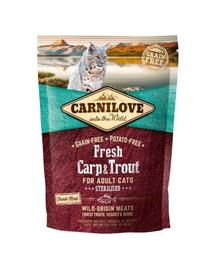 CARNILOVE Adult Sterilised Fresh crap și păstrăv 400 gr