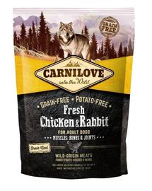 CARNILOVE Hrana uscata pentru caini adulti, cu iepure si pui 1,5 kg