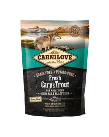 CARNILOVE Hrana uscata pentru caini adulti, cu pastrav si crap proaspat 1,5 kg