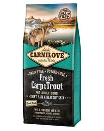 CARNILOVE Hrana uscata pentru caini adulti, cu pastrav si crap proaspat 12 kg