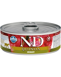 N&D Cat quinoa urinary, pentru pisici cu probleme ale tractului urinar, 80 g