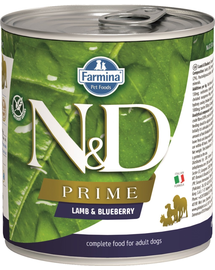 FARMINA N&D Prime - Hrană umedă pentru câini cu miel & afine 285 g