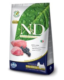 N&D Adult Mini - Hrană uscată cu miel și afine 2.5 kg