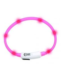 KARLIE Visiolight LED zgardă pentru câini 70cm roz