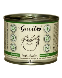 GUSSTO Cat Fresh Chicken CARNE PROASPĂTĂ DE PUI 200 g