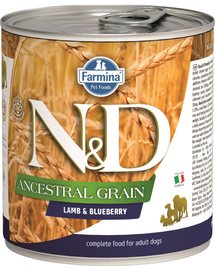FARMINA N&D Dog ancestral grain lamb & blueberry 285 g