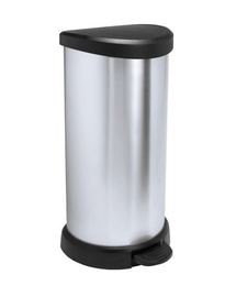 CURVER Coș de gunoi cu pedală 40 L negru/argintiu metalizat