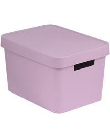 CURVER Coș depozitare cu capac INFINITY 17 L roz