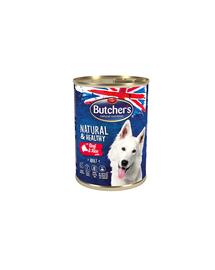 BUTCHER'S Dog Natural&Healthy Hrana umeda pentru caini, pate cu vita si orez 390g
