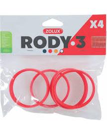 ZOLUX Conector RODY3 4 buc, roșu