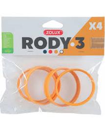 ZOLUX Conector RODY3, 4 buc, galben