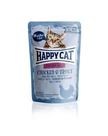 HAPPY CAT All Meat Hrana umeda pentru pisici sterilizate, cu pui si pastrav, 85 g