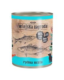 WIEJSKA ZAGRODA hrană umedă fără cereale, cu pește 800 gr