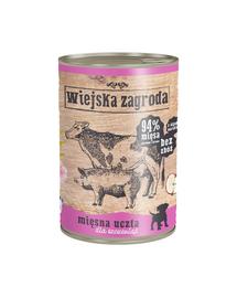WIEJSKA ZAGRODA Junior hrană umedă fără cereale, mix carne 800 gr