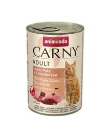 ANIMONDA Carny Adult pui, inimi de curcan și rață 400 gr