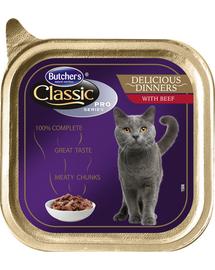 BUTCHER'S Cat Classic Delicious Dinner cu bucăți de vită în sos 100 g