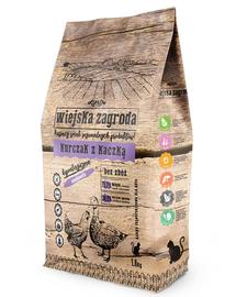 WIEJSKA ZAGRODA Hrană uscată pentru pisici, pui și rață 1.6 kg