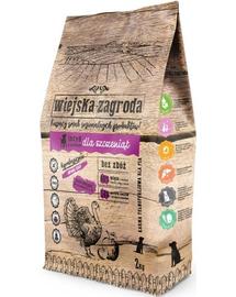 WIEJSKA ZAGRODA Hrană uscată pentru pui și câini tineri, curcan și mere 2 kg