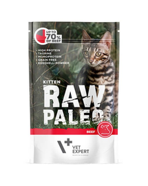 VETEXPERT RAW PALEO Kitten cu vită 100 g