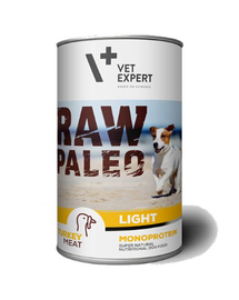 VETEXPERT RAW PALEO Adult Light curcan 400 g