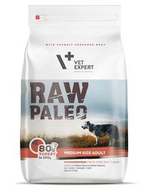 VETEXPERT RAW PALEO Adult Medium cu carne de curcan 10 kg