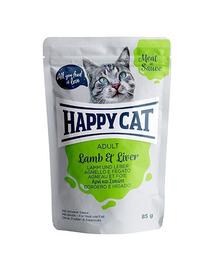HAPPY CAT Meat in sauce Adult, miel și ficat 85 gr