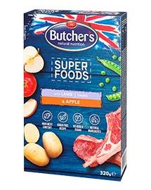 BUTCHER'S Superfoods Treats recompense cu miel și măr 320 g