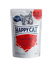 HAPPY CAT Hrana umeda pentru pisici adulte, cu ficat de vițel, 85 g