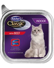 BUTCHER'S Cat Classic Indoor pate cu vită g