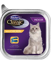 BUTCHER'S Cat Classic Indoor pate cu pui 100 g