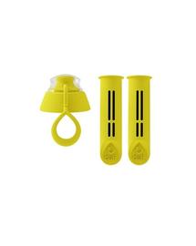 DAFI 2 filtre pentru sticla de filtrare cu capac, citron