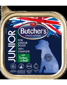 BUTCHER'S Functional Dog Junior pate cu vită și curcan 150 gr