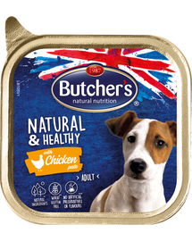 BUTCHER'S Natural&Healthy Dog pate cu pui 150 gr