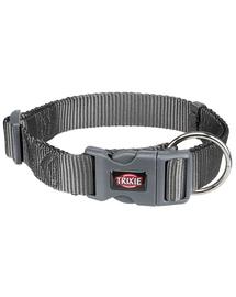 TRIXIE Zgardă Premium, XXS–XS: 15–25 cm/10 mm, grafit