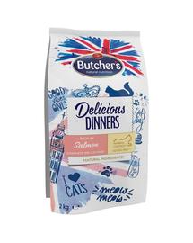 BUTCHER'S Delicious Dinners Cat, hrană uscată cu somon 2 kg