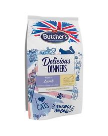 BUTCHER'S Delicious Dinners Cat, hrană uscată cu miel 2 kg