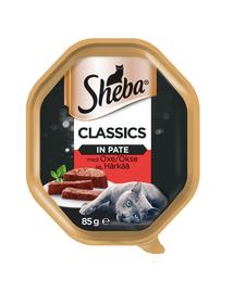 SHEBA Classics hrana umeda pentru pisici, pate cu vita 22 x 85 gr