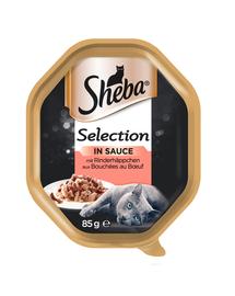 SHEBA Selection hrana umeda pentru pisici, vita in sos 22 x 85 gr