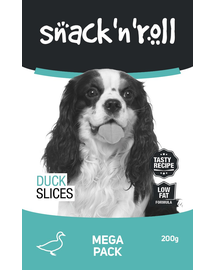 SNACK & ROLL Duck Slices felii de rață 200 g