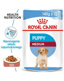 Royal Canin Medium Puppy hrana umeda caine junior 10x140 g