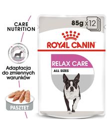 ROYAL CANIN Relax Care Hrana umedă pate, pentru câinii adulți expuși la stres,12 plicuri x 85 g