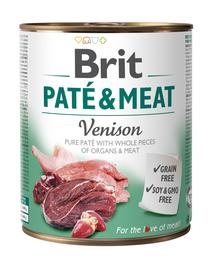 BRIT Pate & Meat Venison, cu vânat 800 g