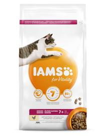 IAMS For Vitality Hrana uscata pentru pisici seniori/castrate Mix de arome 100g