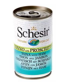 SCHESIR Hrana umeda pentru pisici, cu ton si sunca, 140 g