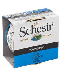 SCHESIR Hrană umedă pentru pisici, cu ton în jeleu 85 g