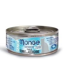 MONGE Cat Senior hrană umedă pentru pisici senioare, cu ton și anșoa 80g