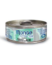 MONGE Kitten Jelly hrană umedă pentru pisoi, cu ton și aloe 80 g